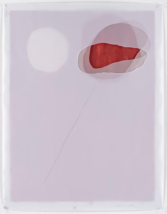 Christine Crozat, Paysage N° 11 quatre feuilles superposées ©Christine Crozat, Dans les champs, N° 01 103X71,5cm, 2017 dessin ©Jean Louis Losi